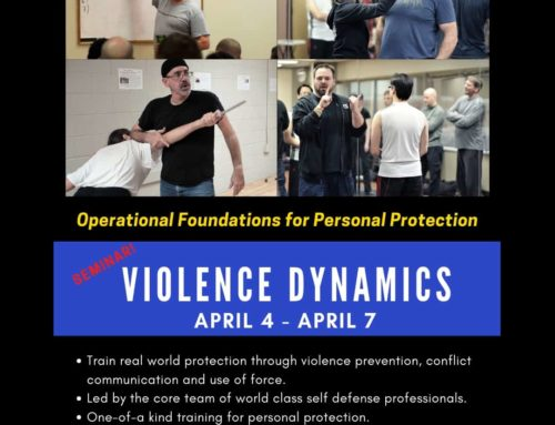 Rory Miller, Terry Trahan, Randy King, & Kasey Keckeisen  @ Kore Self-Defense in April